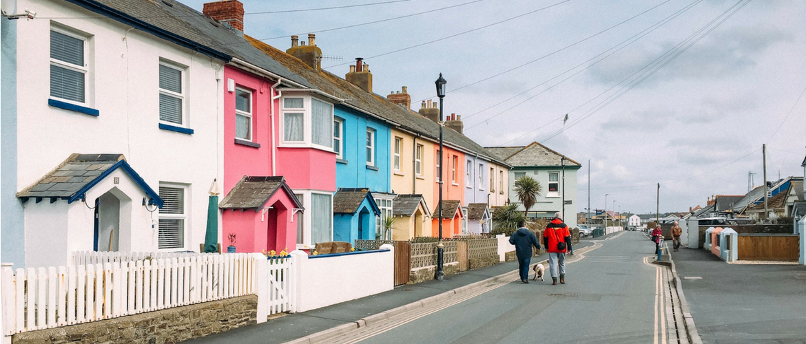 Westward Ho! colour houses - North Devon