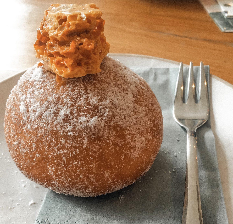 Honeycomb sourdough doughnut pink mans bakery bristol