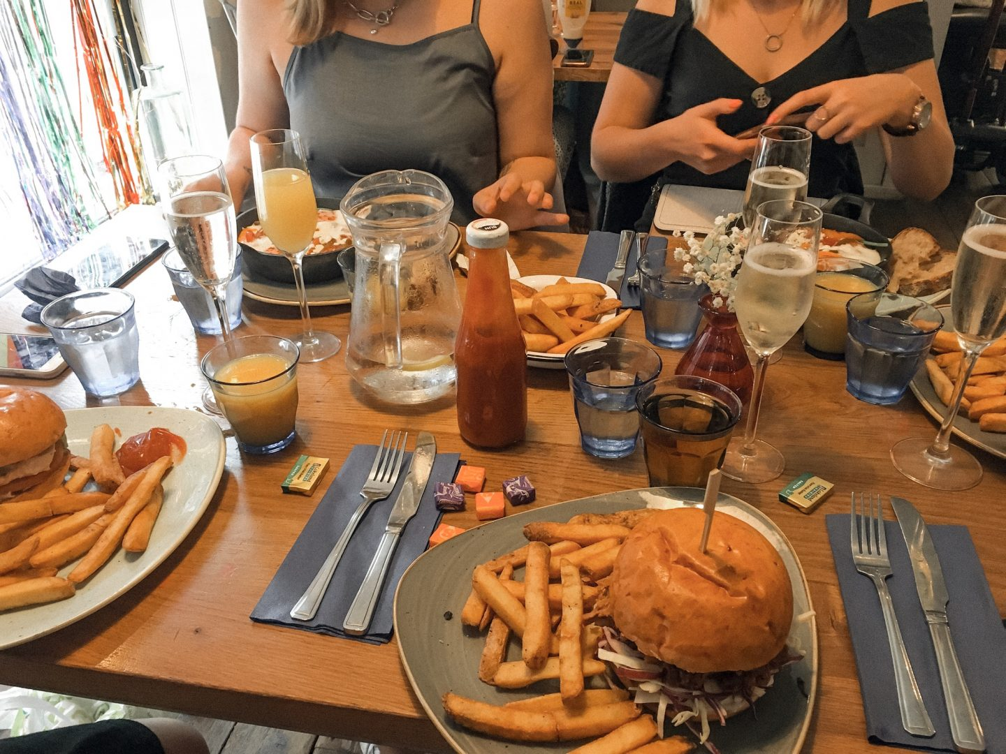 bottomless brunch food at prince street social bristol