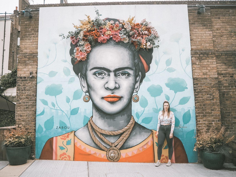 Frida Kahlo mural near London Victoria