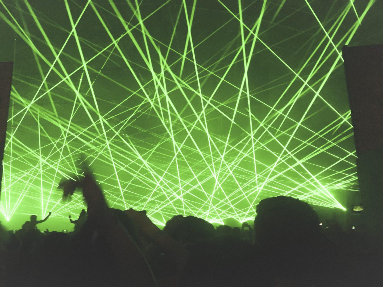 Laser lights at creamfields festival