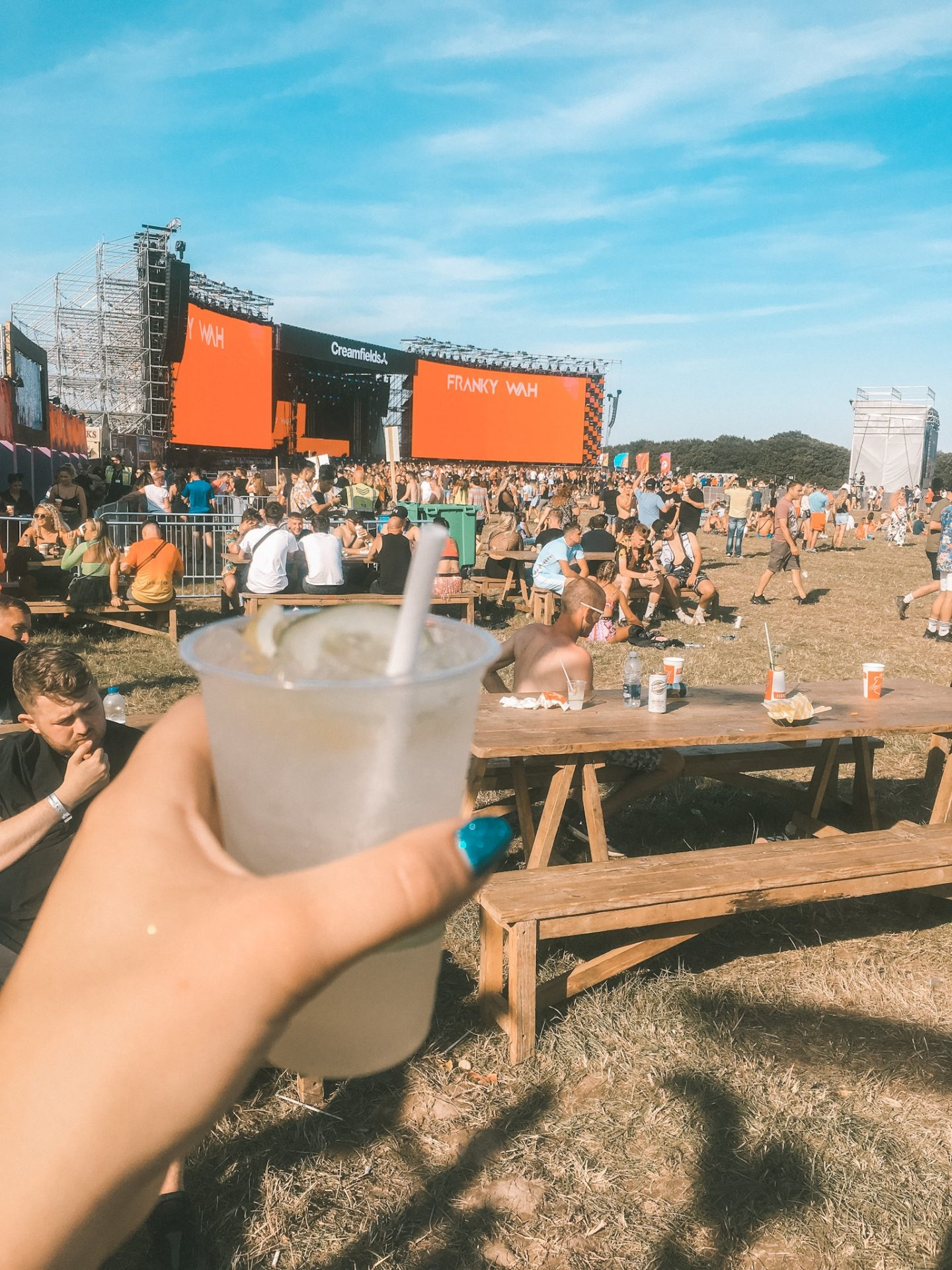 Cocktail at Creamfields festival