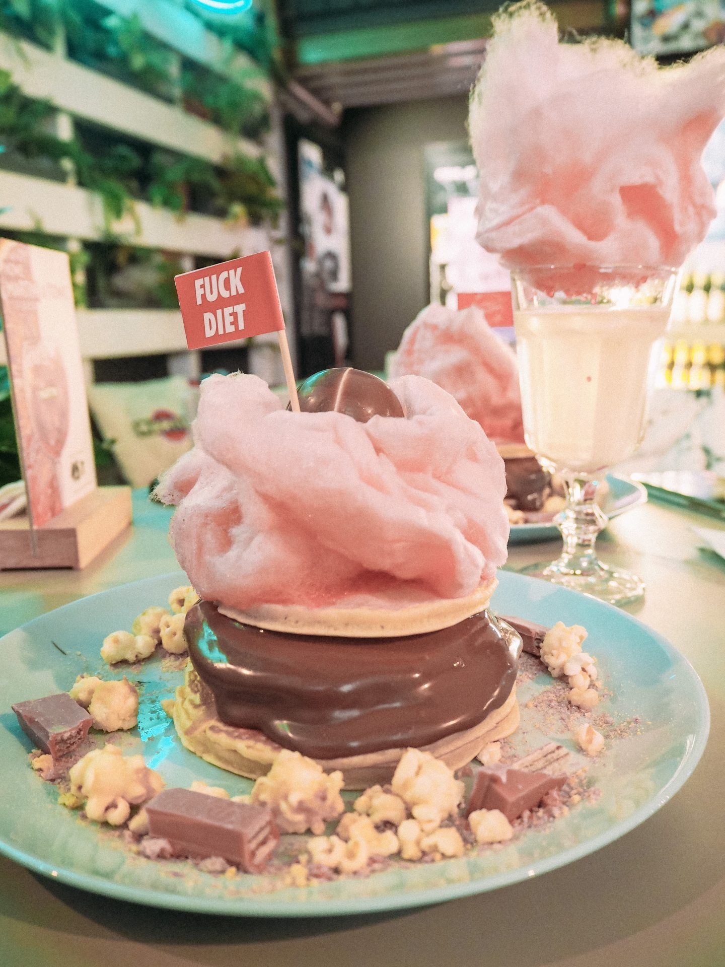 Mr Pancake Nutella Pancakes with Candyfloss