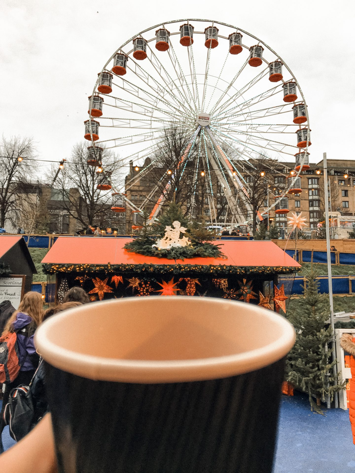 Mulled cider at Edinburgh christmas market