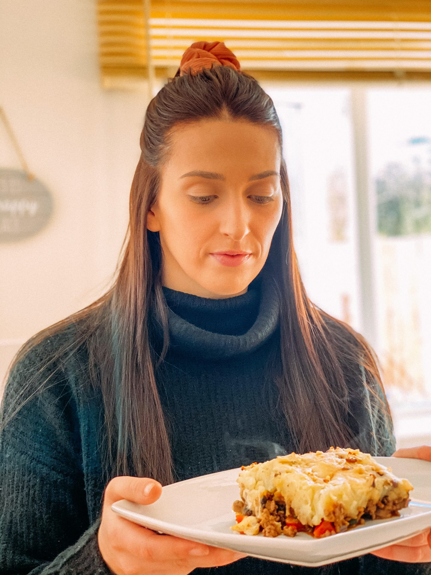 Blogger with Schwartz Shepherd's Pie