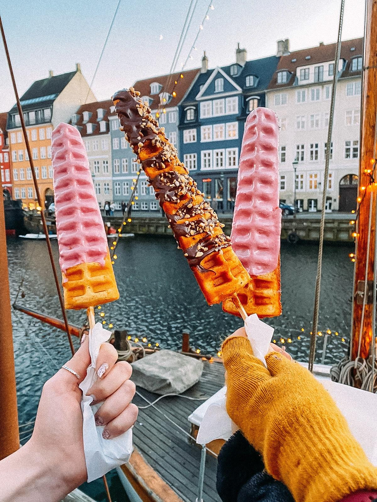 Waffle sticks in Copenhagen