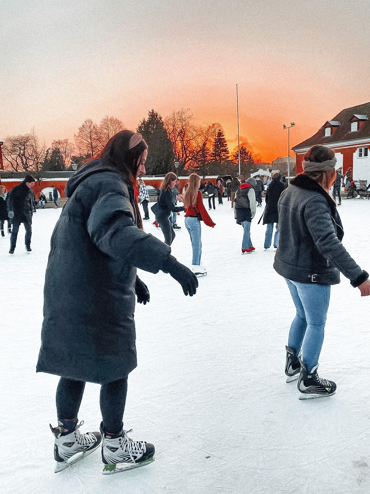 Girl Ice skating at Skøjtebanen