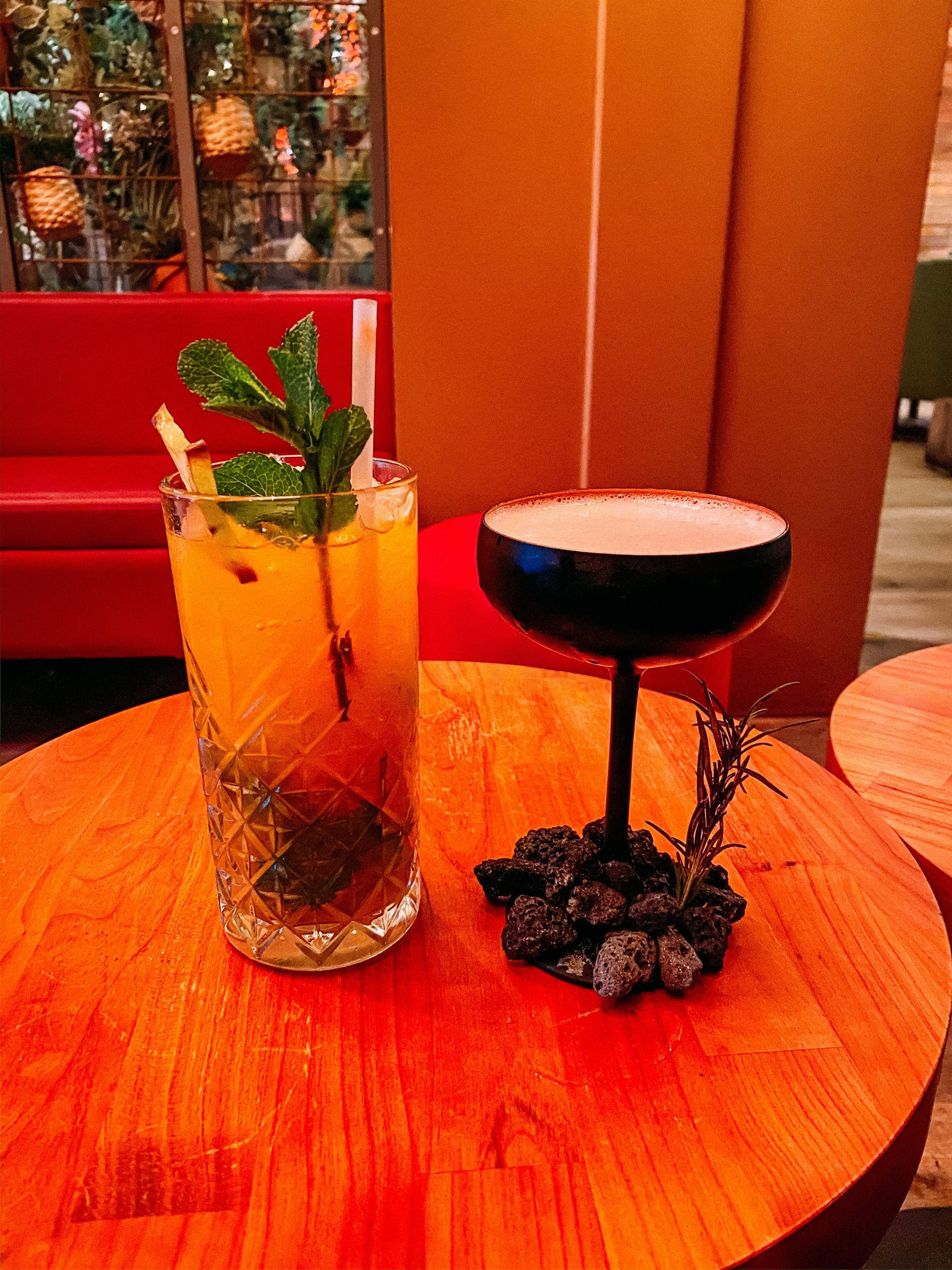 Cocktails at social sushi in Iceland