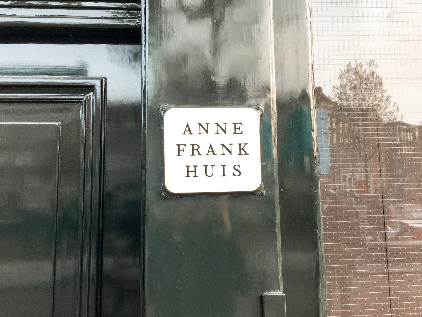 Anne Frank House Amsterdam sign