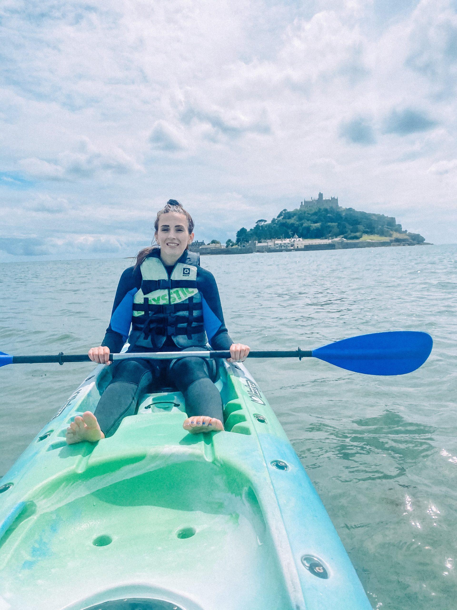 Kayaking at St Michael's Mount, Cornwall