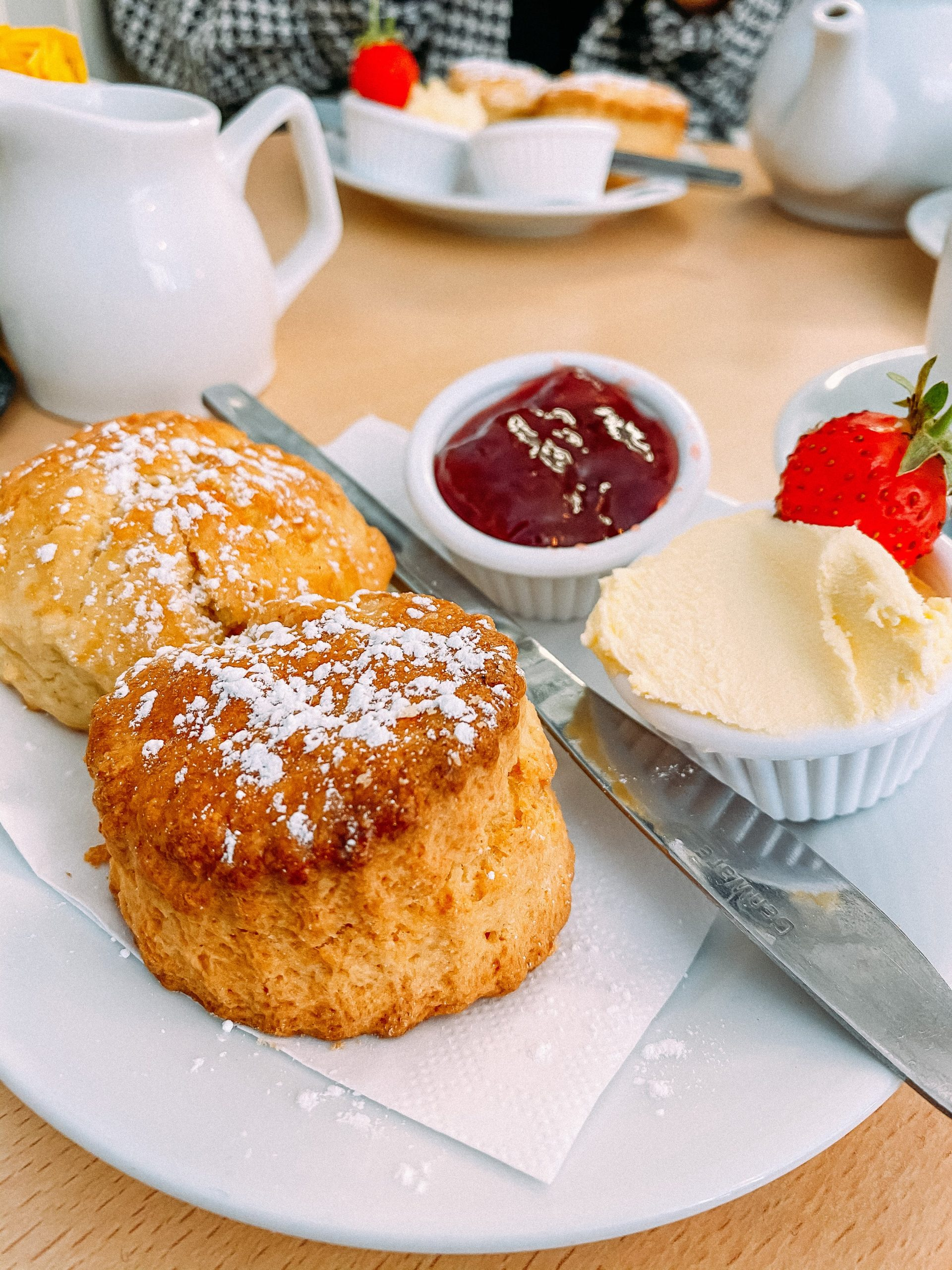 Cream tea from The Market Place, St Ives, Cornwall