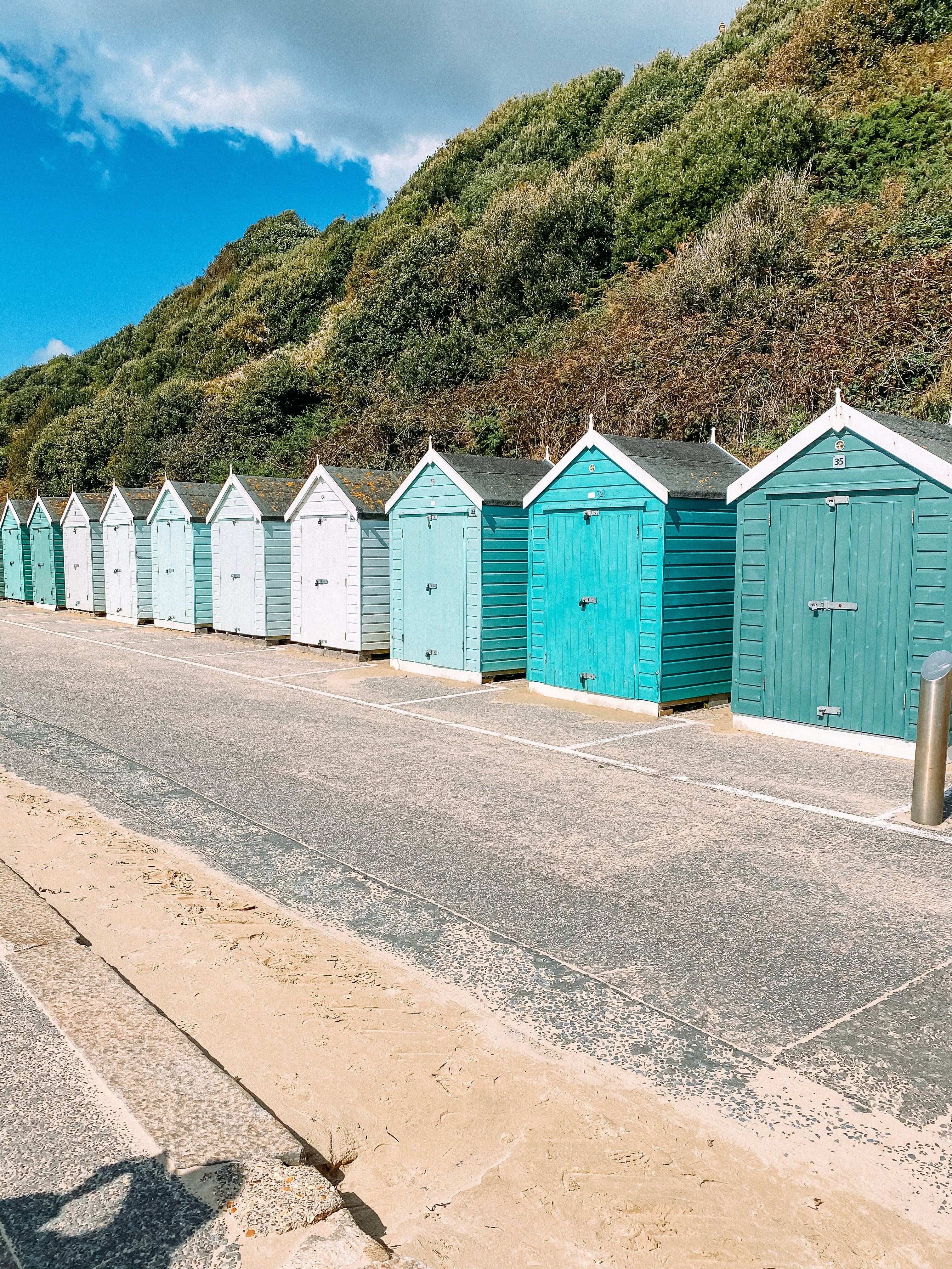 bournemouth beach colourful beach huts