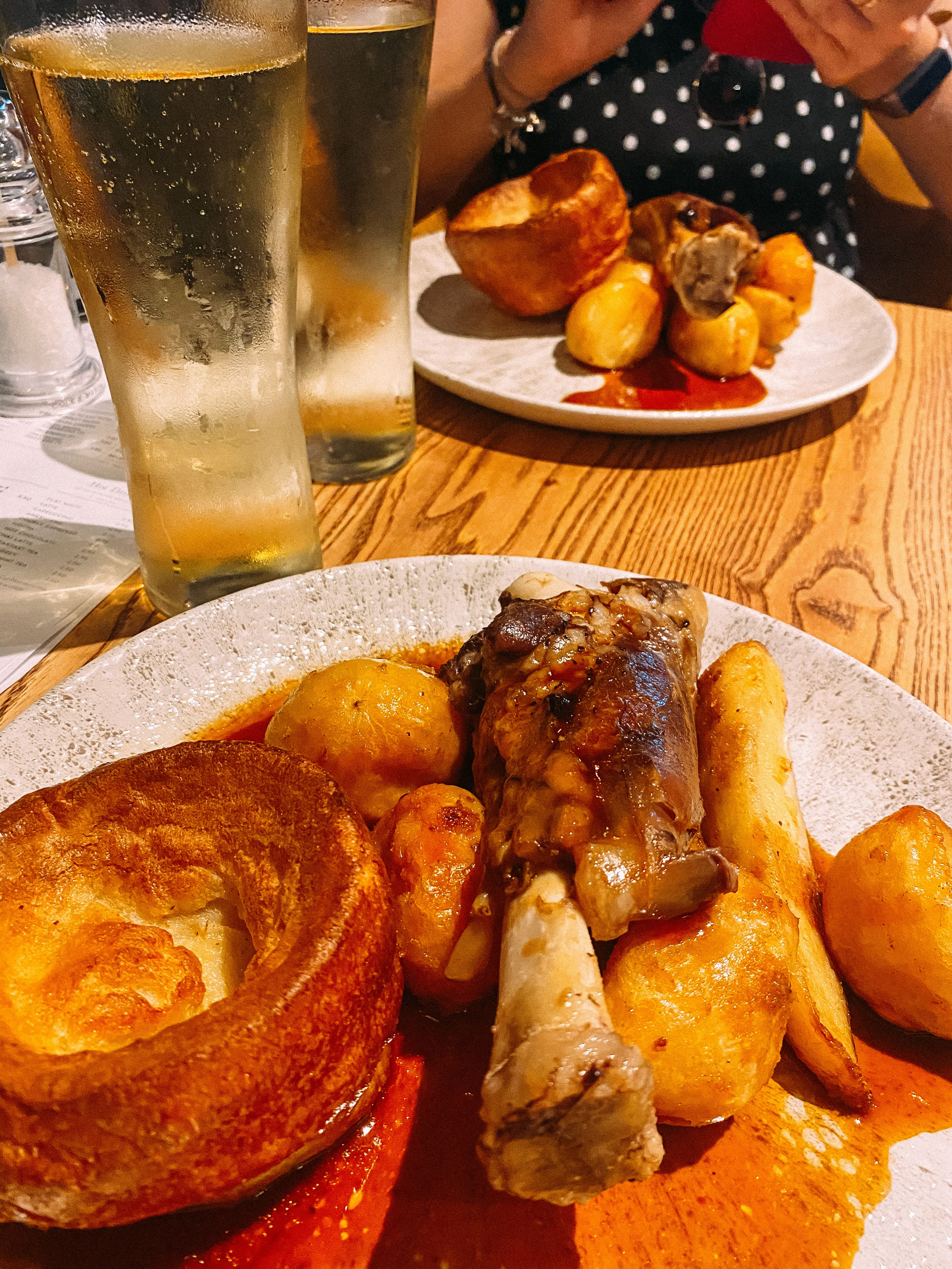 lamb roast at the curlew bournemouth