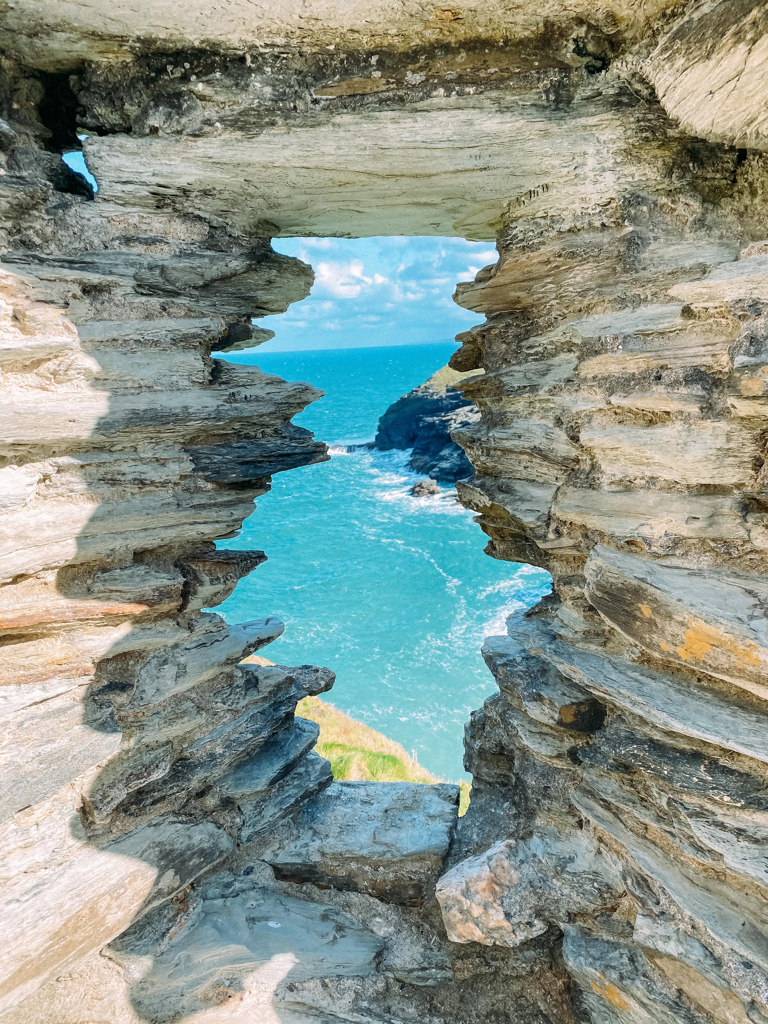 Tintagel castle in North Cornwall