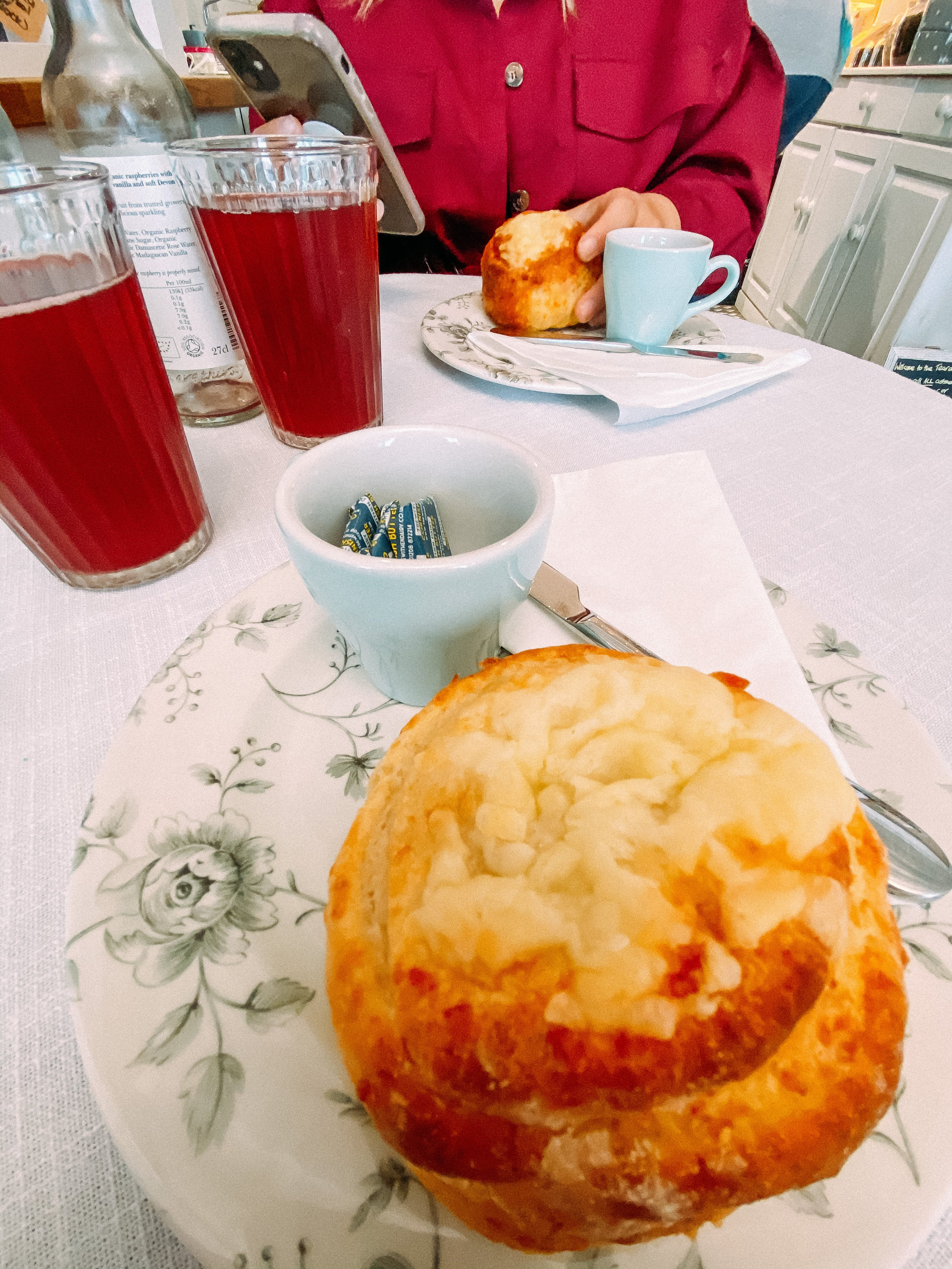 Cheese scones from upon Teacup Tearoom in Mevagissey, Cornwall