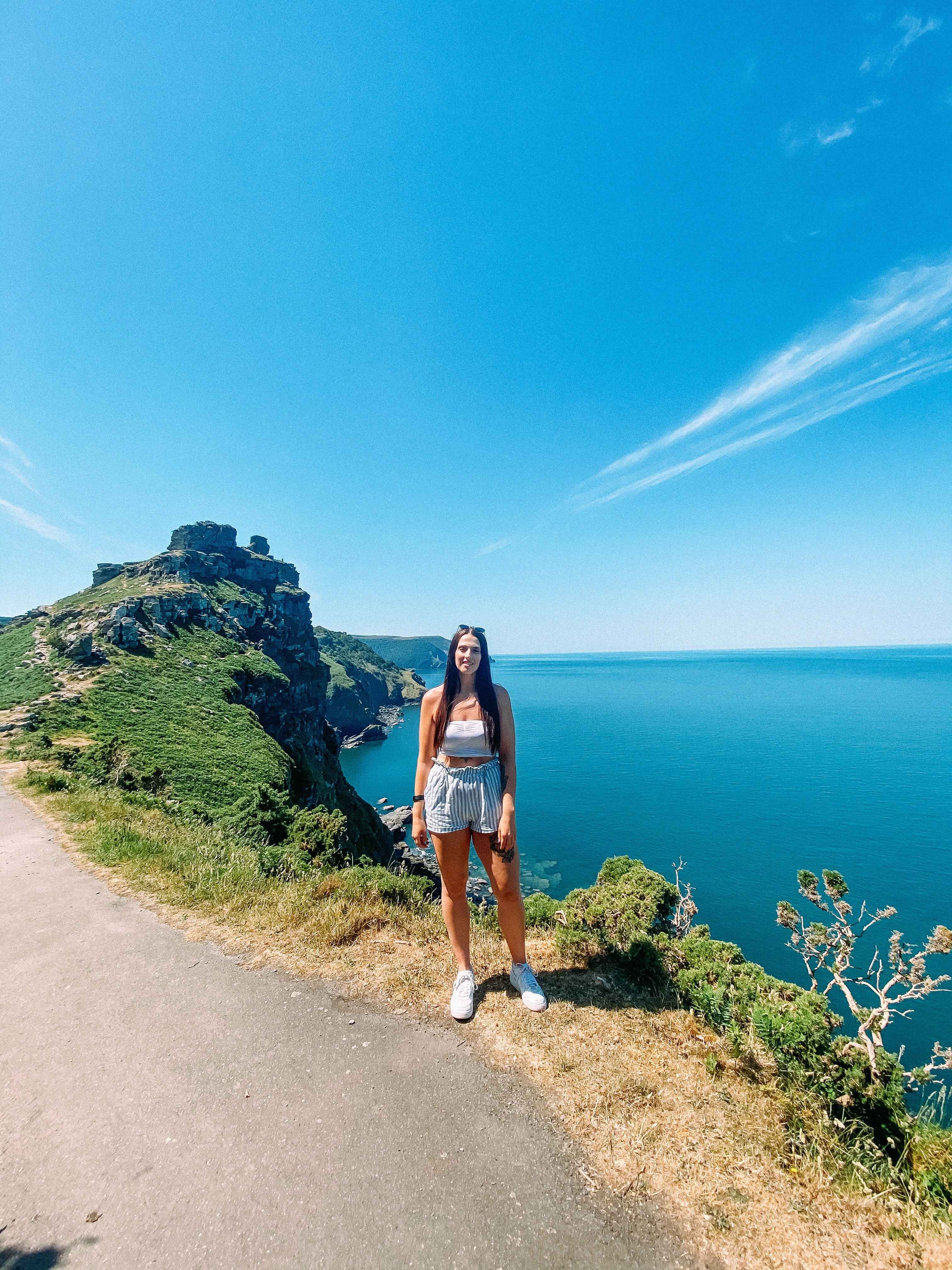 Valley of the rocks in the summer