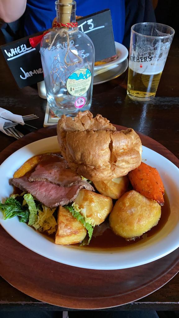 The Annexe Inn Beef Sunday Roast in Bristol